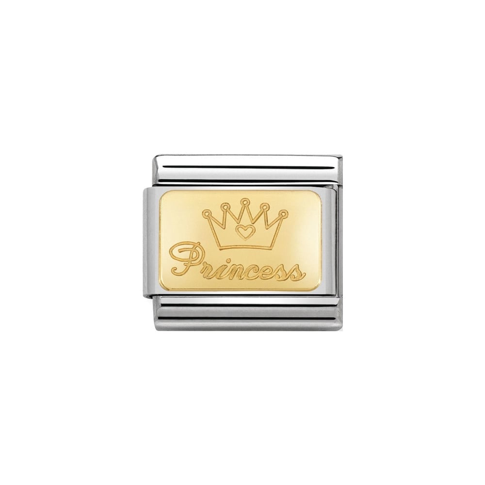 Nomination Classic Gold Princess Plate Charm
