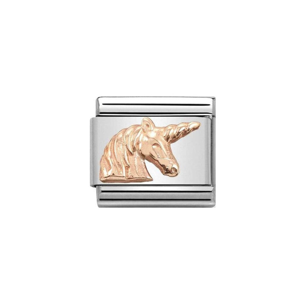 Nomination Classic Rose Gold Unicorn Charm