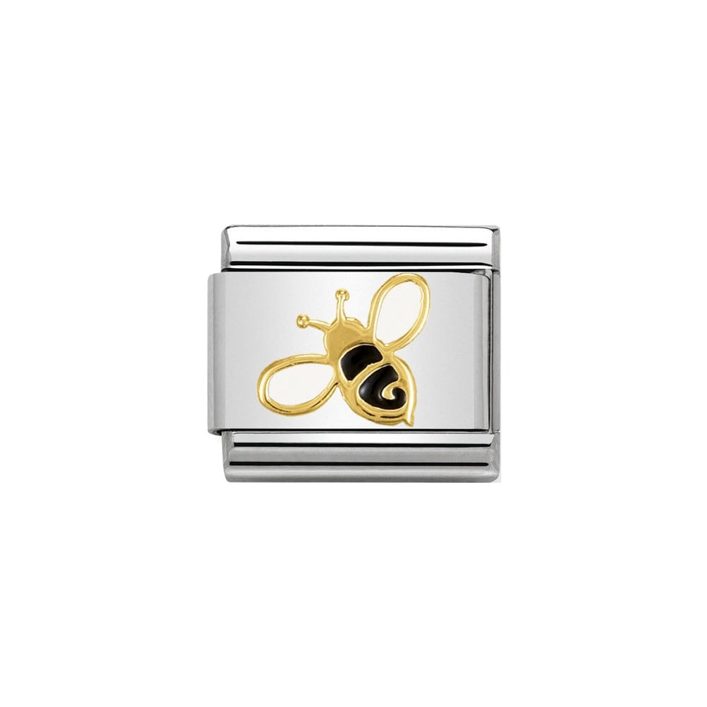 Nomination Classic Gold Bee Charm - S&S Argento