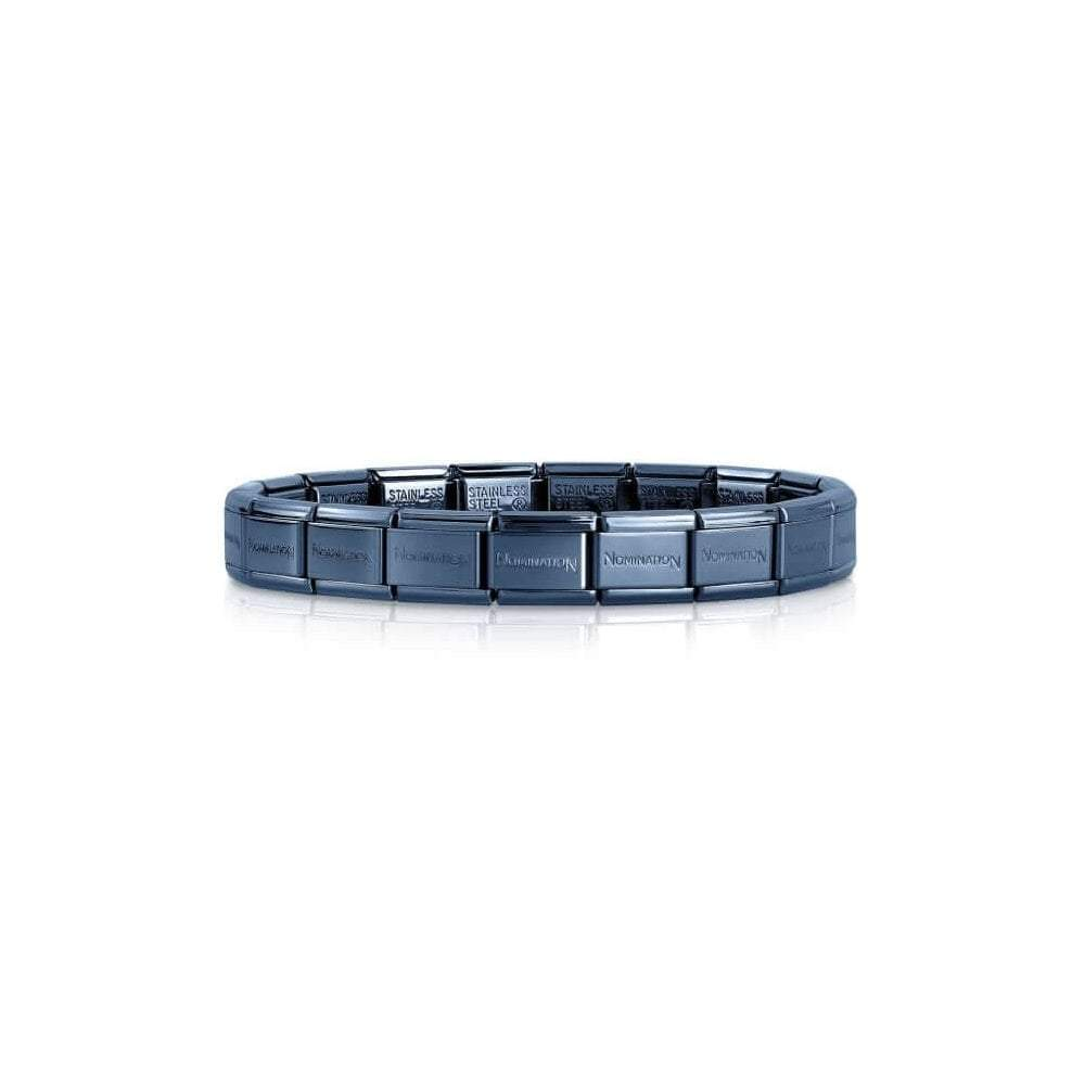 Nomination Classic Blue Base Composable Charm Bracelet - S&S Argento