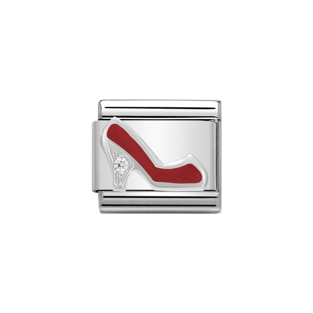Nomination Classic CZ Silver and Red Shoe Charm - S&S Argento