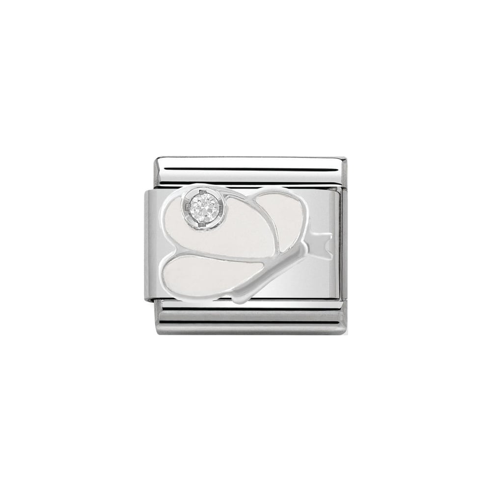 Nomination Classic CZ Silver and White Butterfly Charm - S&S Argento