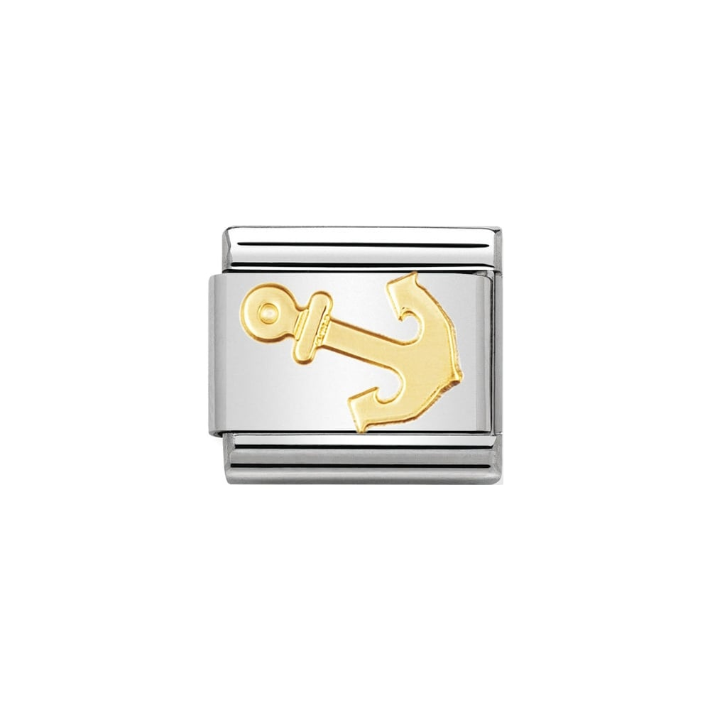 Nomination Classic Gold Anchor Charm - S&S Argento