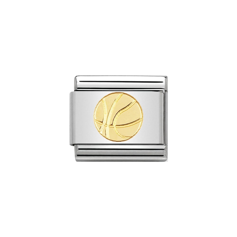 Nomination Classic Gold Basket Ball Charm - S&S Argento