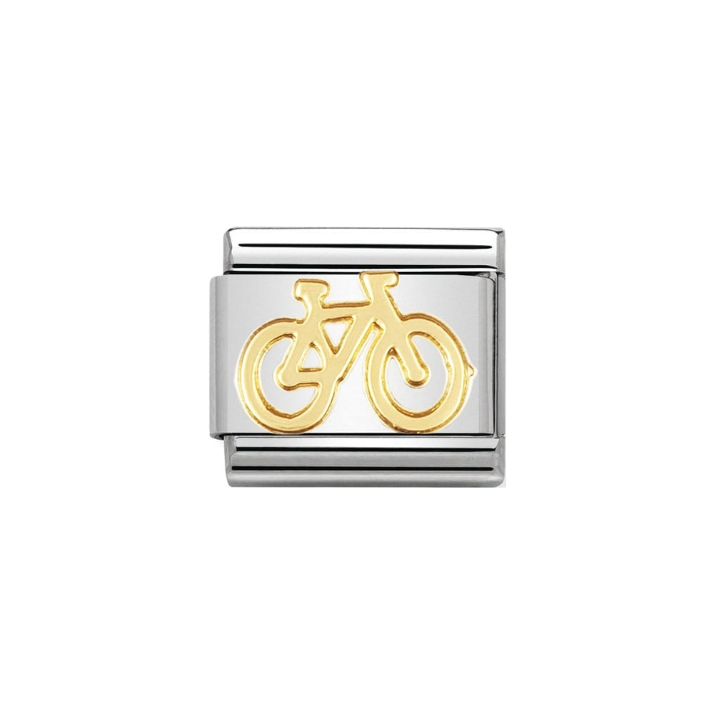 Nomination Classic Gold Bicycle Charm - S&S Argento