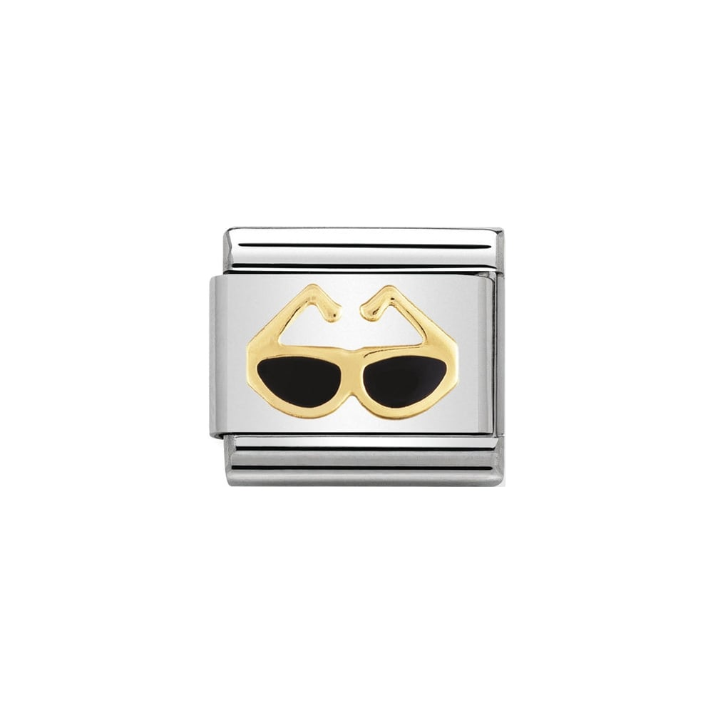 Nomination Classic Gold & Black Sunglasses Charm - S&S Argento