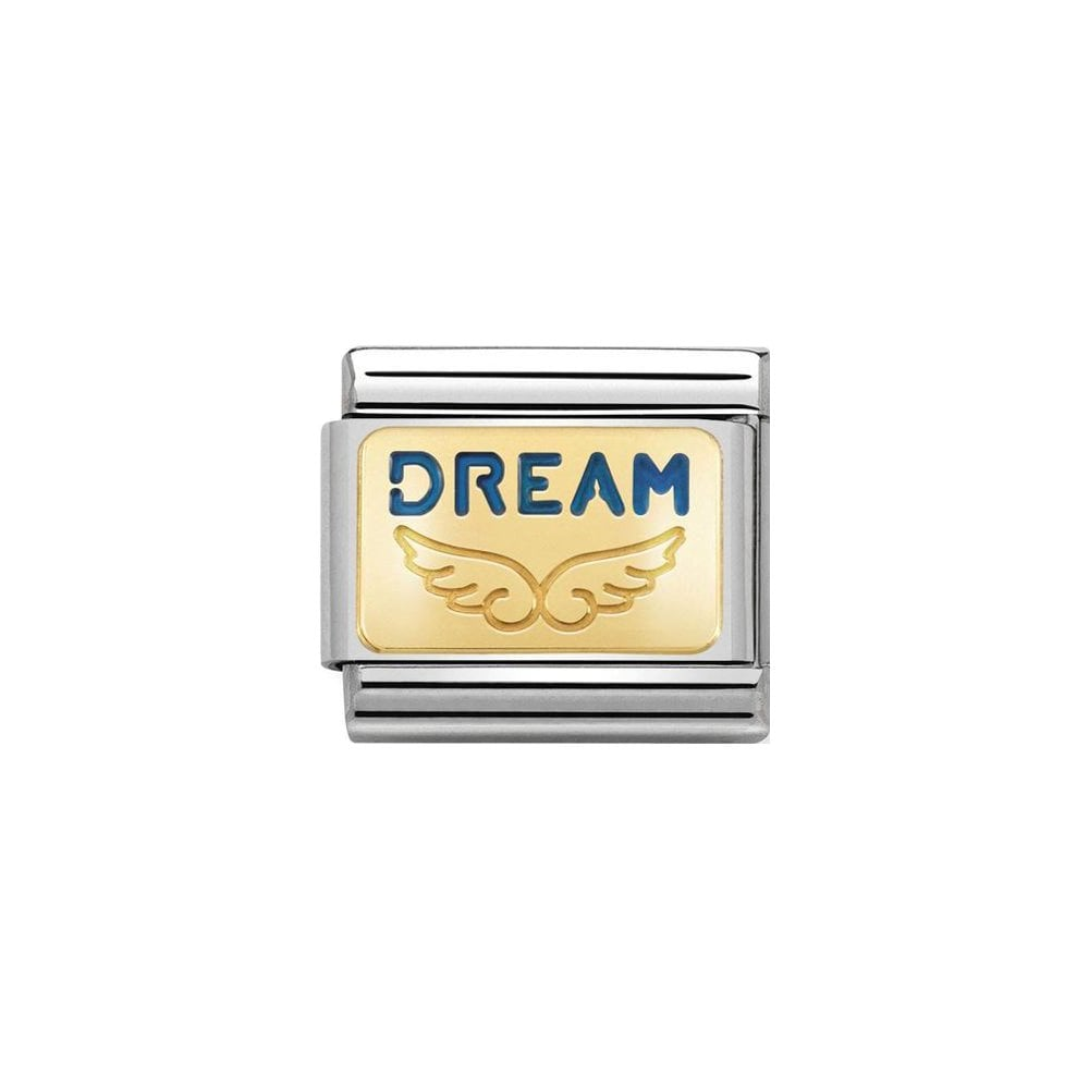 Nomination Classic Gold & Blue Dream Angel Charm - S&S Argento