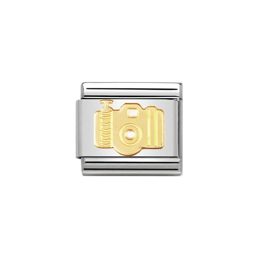 Nomination Classic Gold Camera Charm - S&S Argento