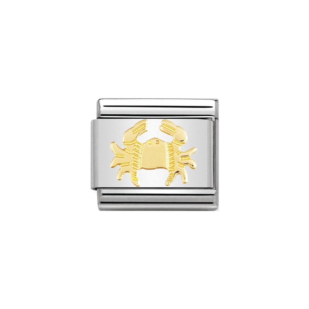 Nomination Classic Gold Cancer Charm - S&S Argento