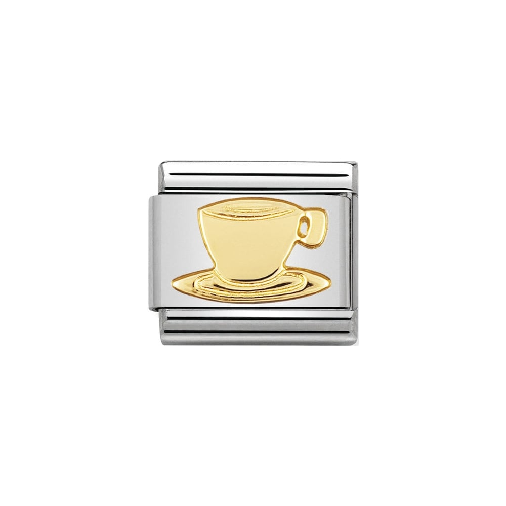 Nomination Classic Gold Coffee Cup Charm - S&S Argento