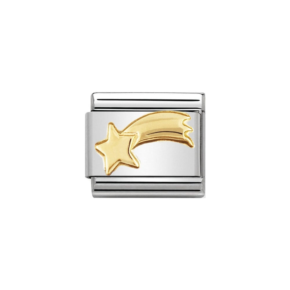 Nomination Classic Gold Shooting Star Charm - S&S Argento