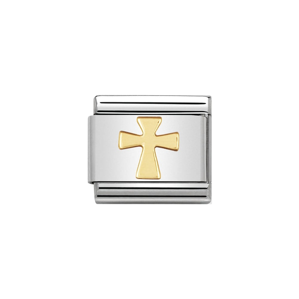 Nomination Classic Gold Cross Charm - S&S Argento