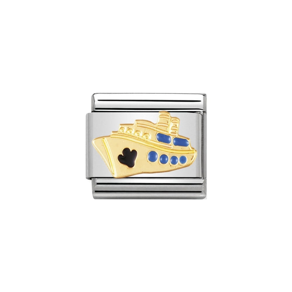 Nomination Classic Gold & Enamel Cruise Ship Charm - S&S Argento
