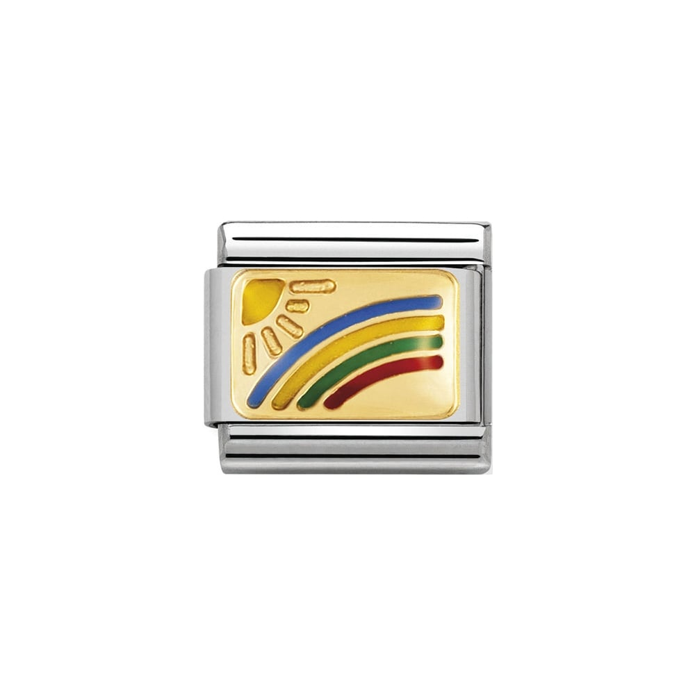 Nomination Classic Gold and Enamel Rainbow Charm - S&S Argento