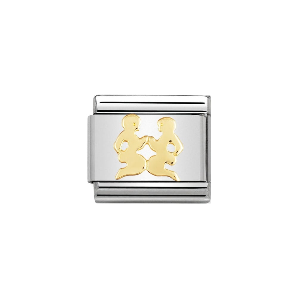 Nomination Classic Gold Gemini Charm - S&S Argento