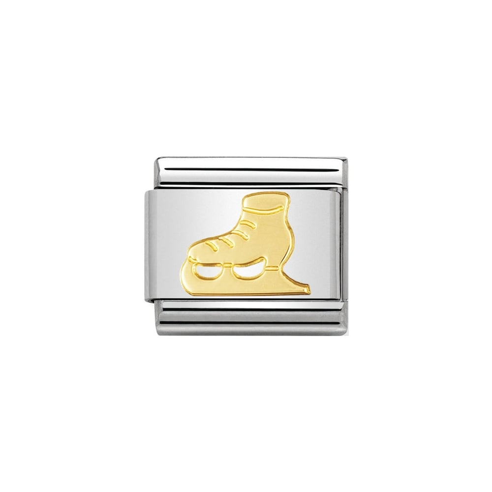 Classic Gold Ice Skate Charm - S&S Argento