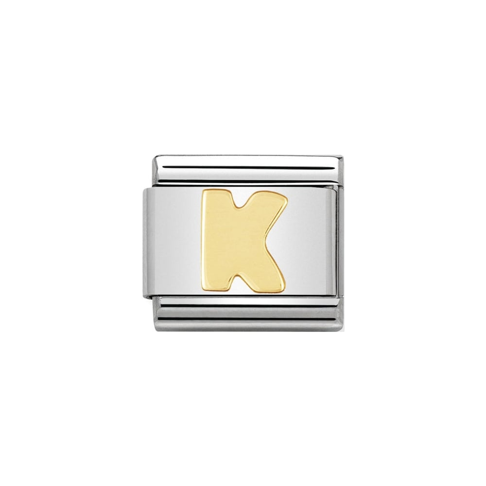 Nomination Classic Gold Letter K Charm - S&S Argento