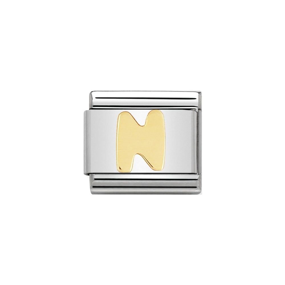 Nomination Classic Gold Letter N Charm - S&S Argento