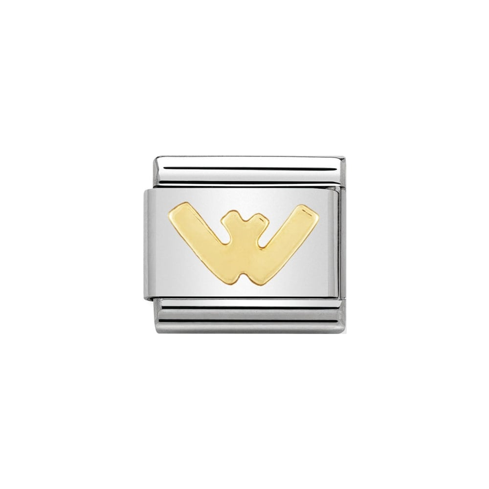 Nomination Classic Gold Letter W Charm - S&S Argento
