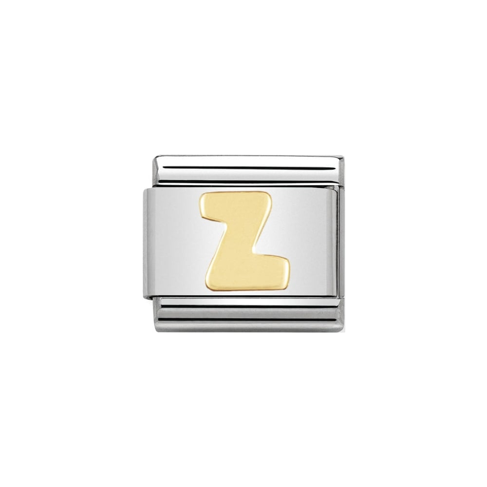 Nomination Classic Gold Letter Z Charm - S&S Argento