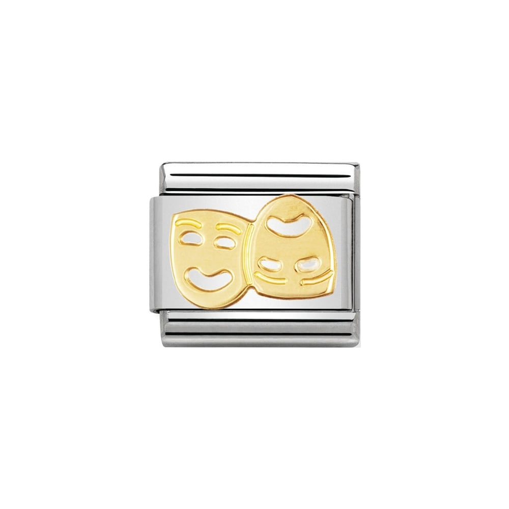 Nomination Classic Gold Theatre Charm - S&S Argento