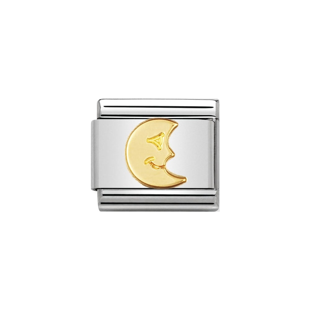 Nomination Classic Gold Moon Charm - S&S Argento