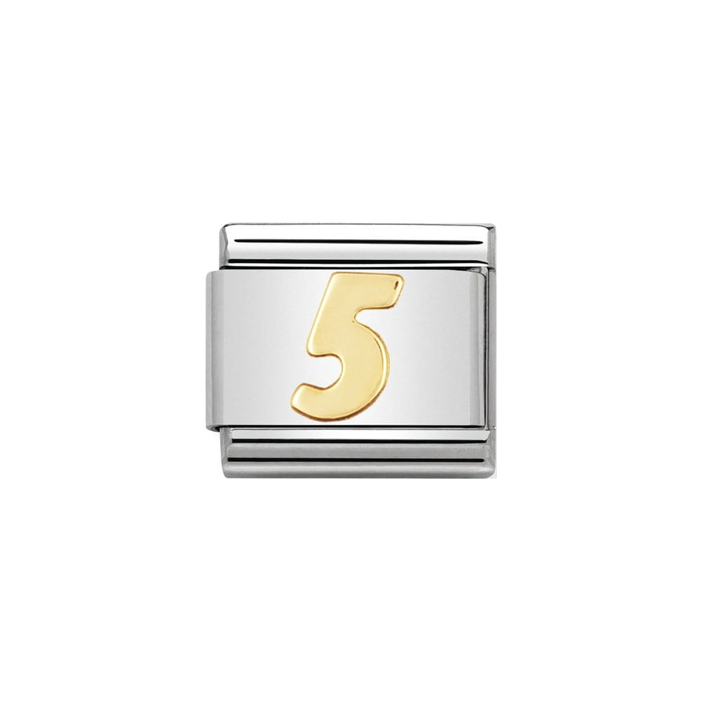 Nomination Classic Gold Number 5 Charm - S&S Argento
