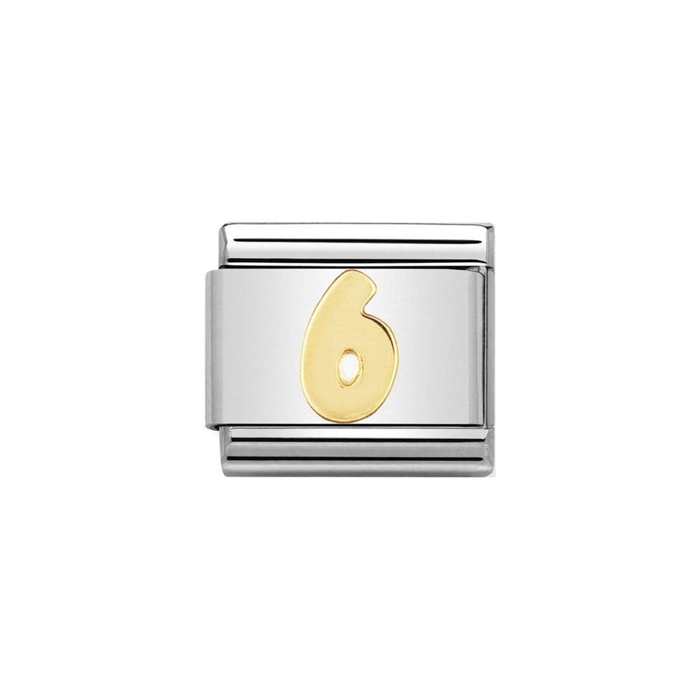 Nomination Classic Gold Number 6 Charm - S&S Argento