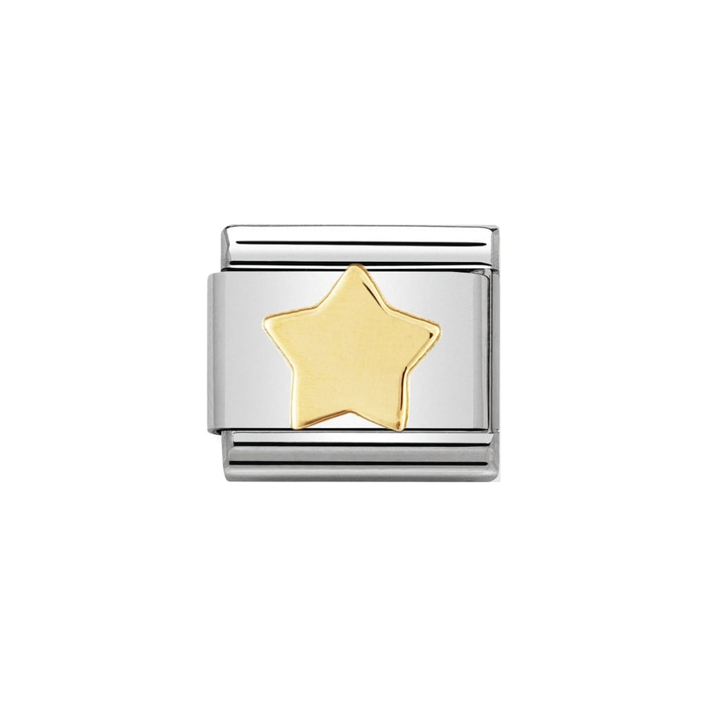 Nomination Classic Gold Star Charm - S&S Argento