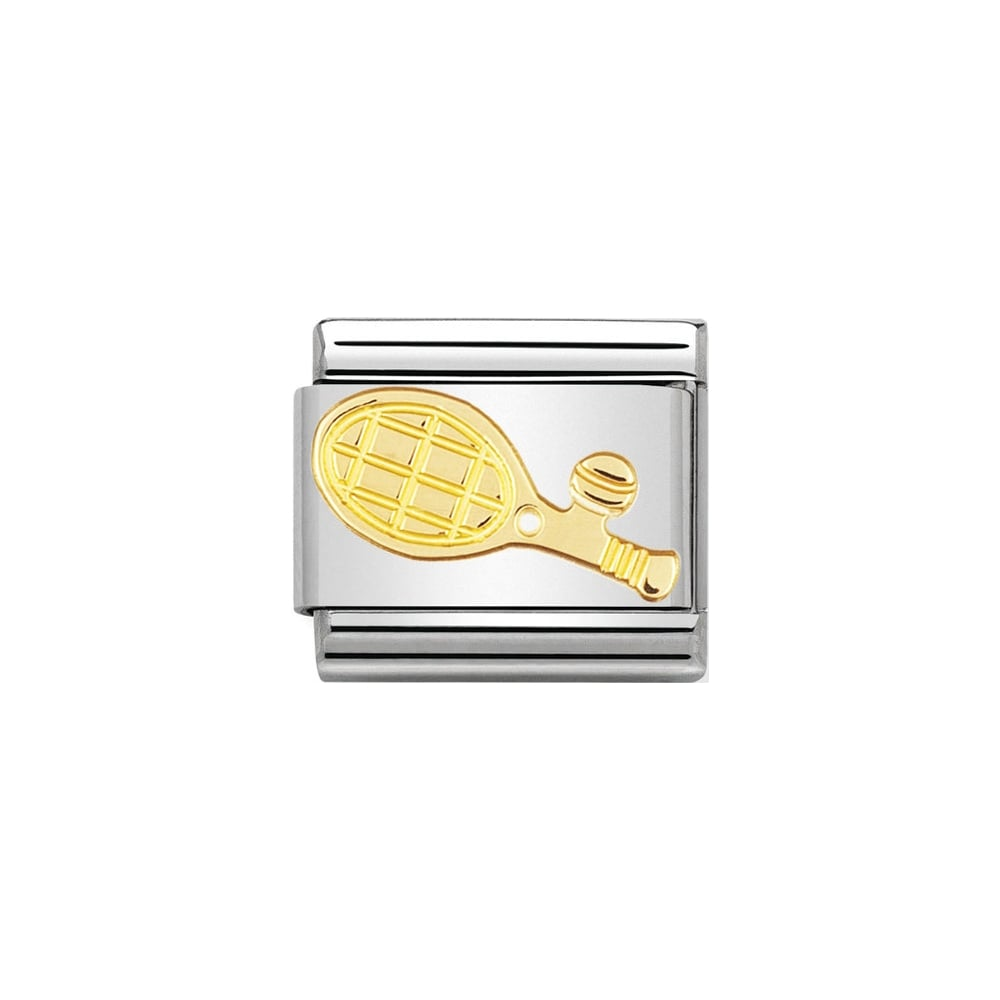 Nomination Classic Gold Tennis Racket Charm - S&S Argento