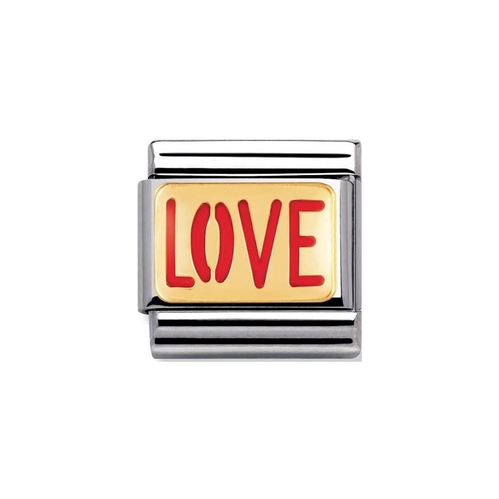 Nomination Classic Gold & Red Love Charm