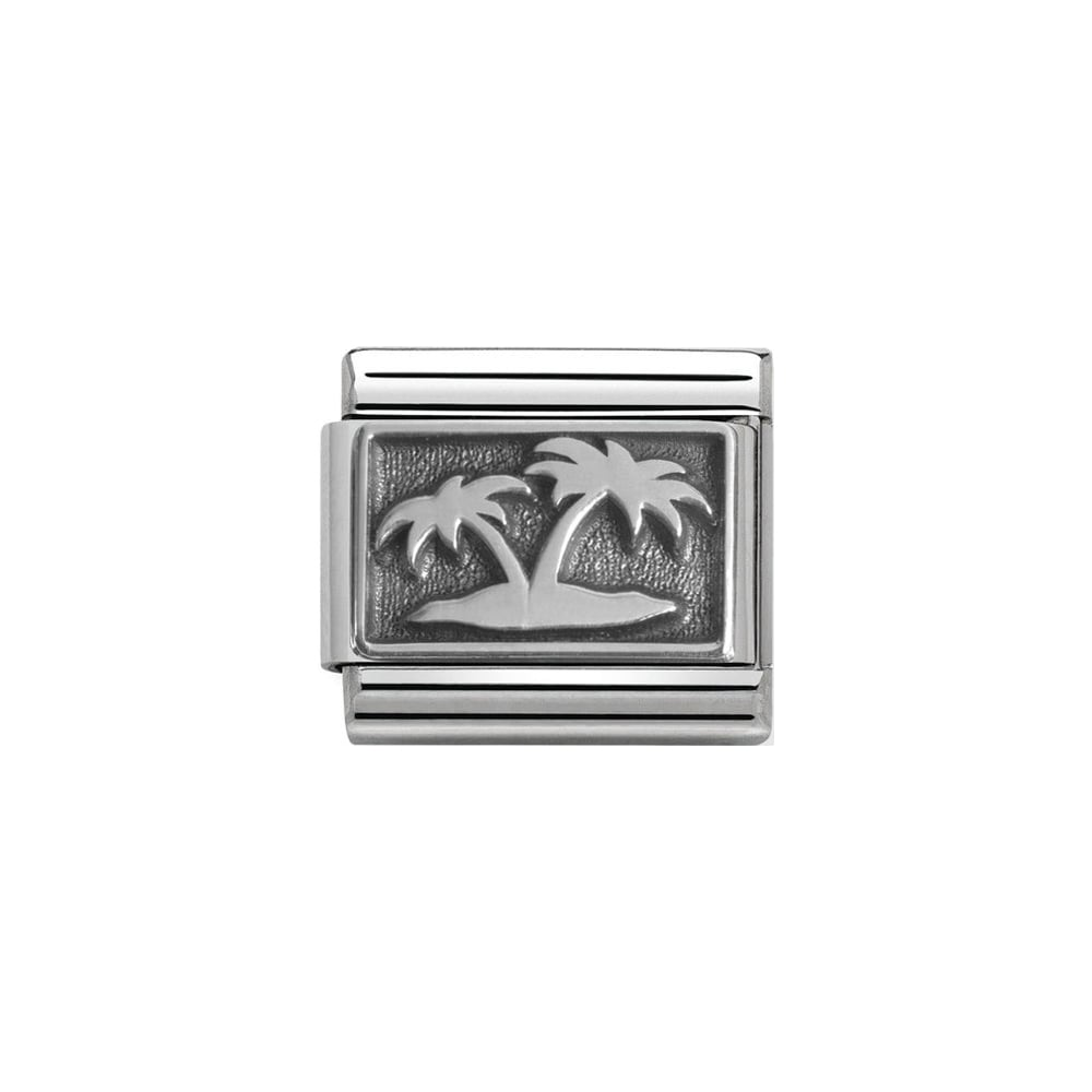 Nomination Classic Silver Palm Trees Charm