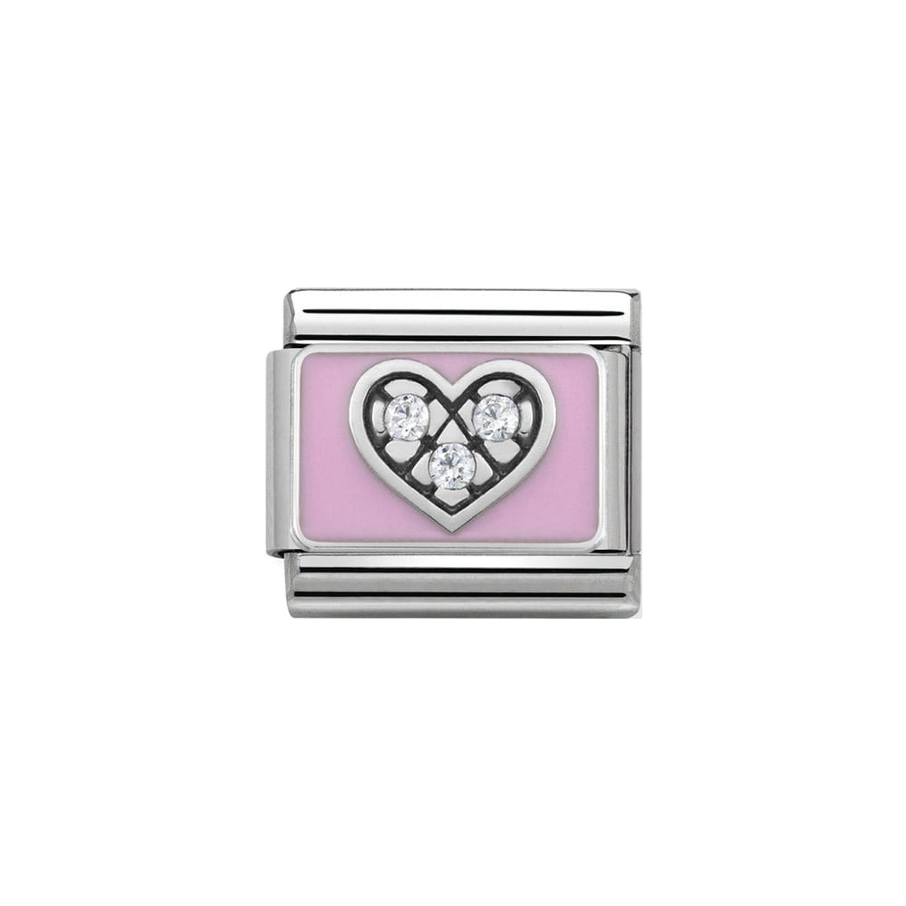 Nomination Classic Pink With CZ Heart Charm - S&S Argento