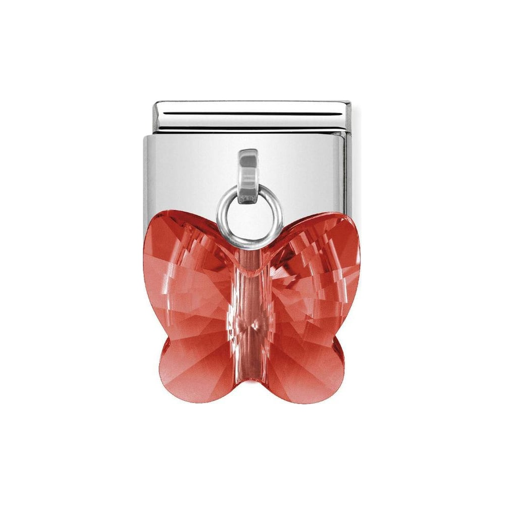 Nomination Classic Red Butterfly Drop Charm
