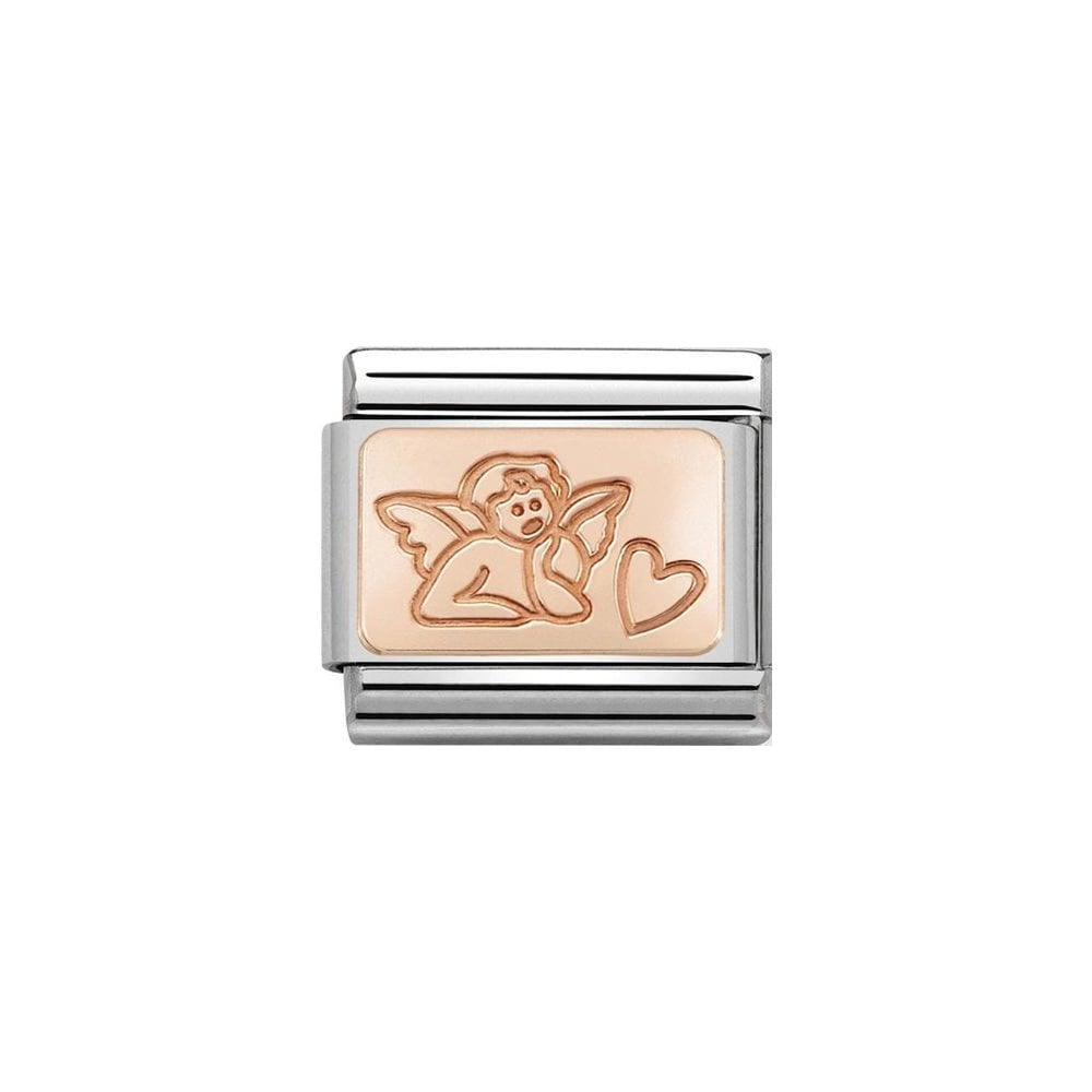 Nomination Classic Rose Gold Angel of Love Charm - S&S Argento