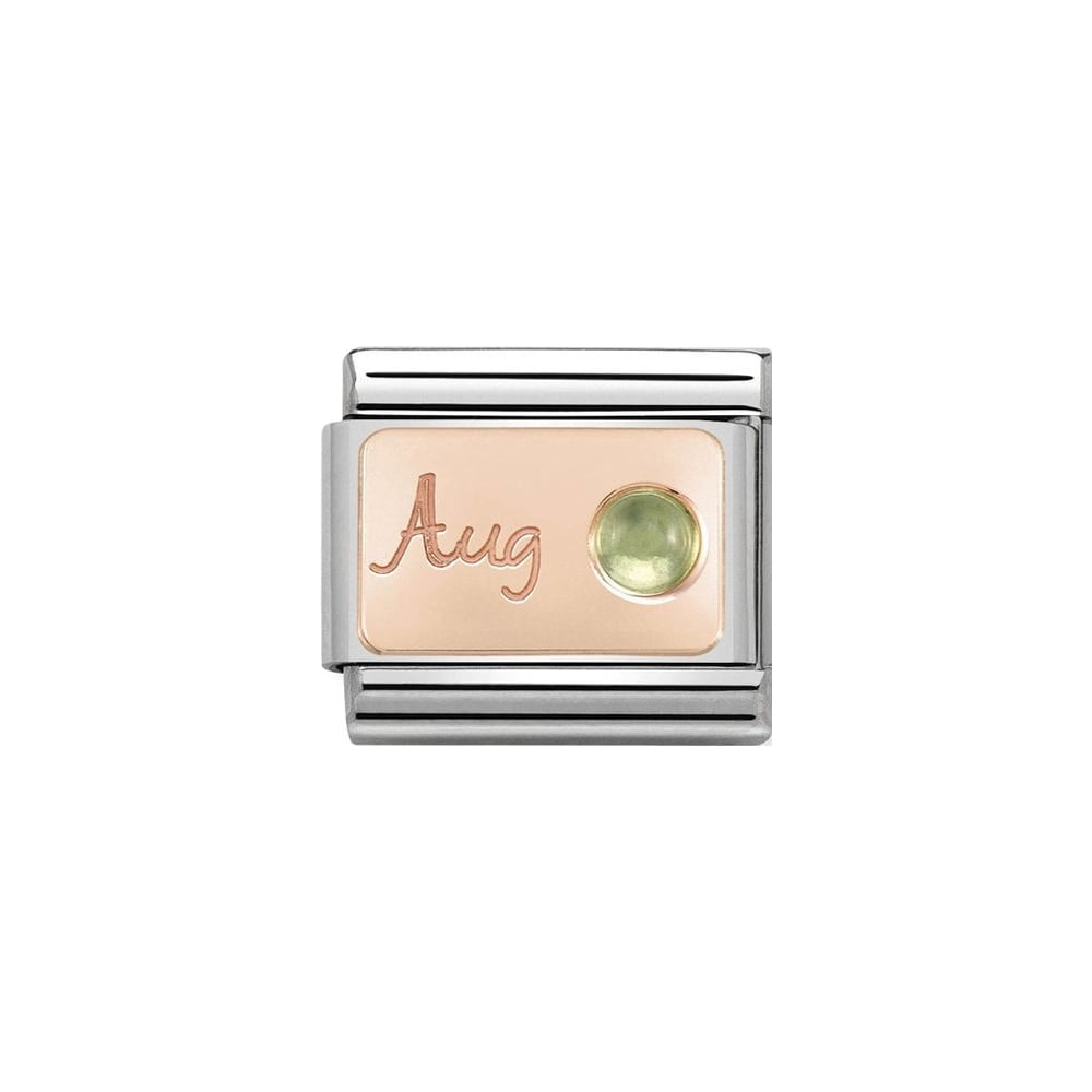Nomination Classic Rose Gold August Peridot Charm - S&S Argento