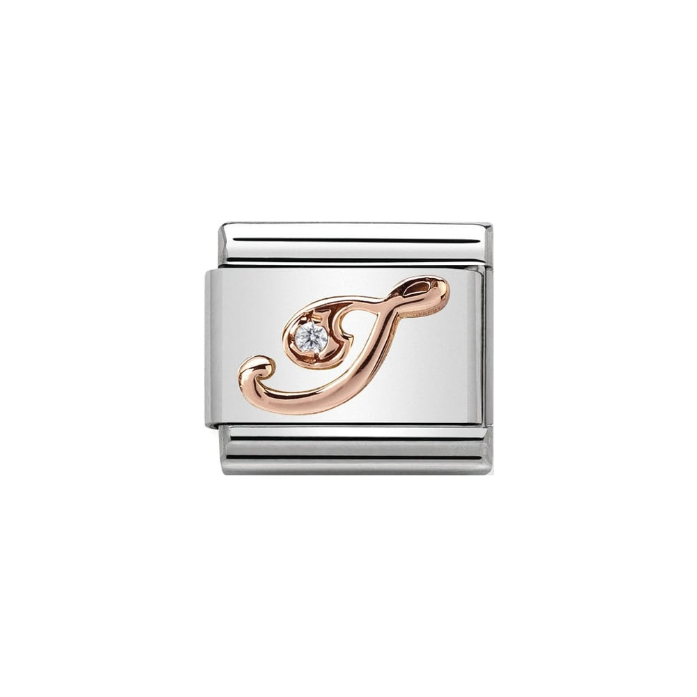Nomination Classic Rose Gold & CZ Letter I Charm - S&S Argento