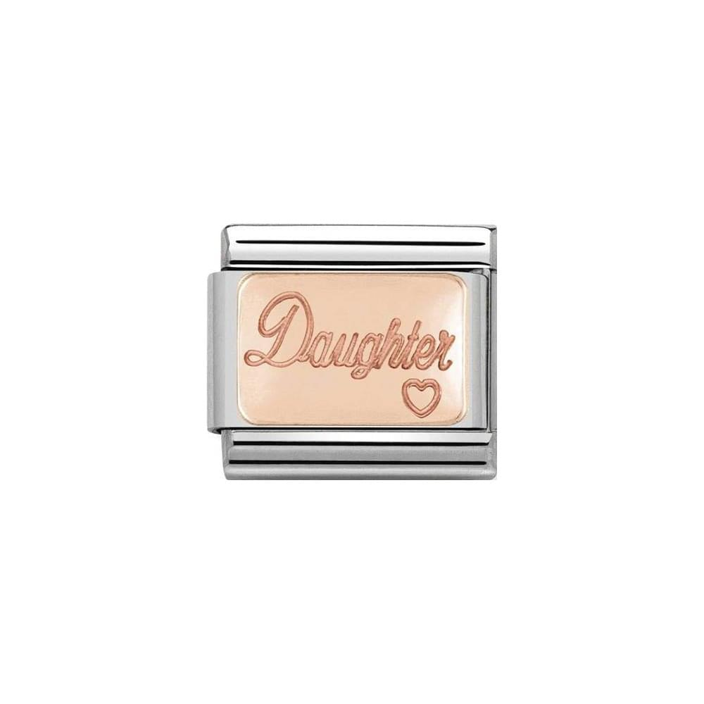 Nomination Classic Rose Gold Daughter Plate Charm - S&S Argento