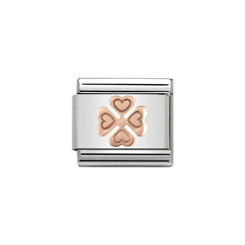 Nomination Classic Rose Gold Four Leaf Clover Charm - S&S Argento
