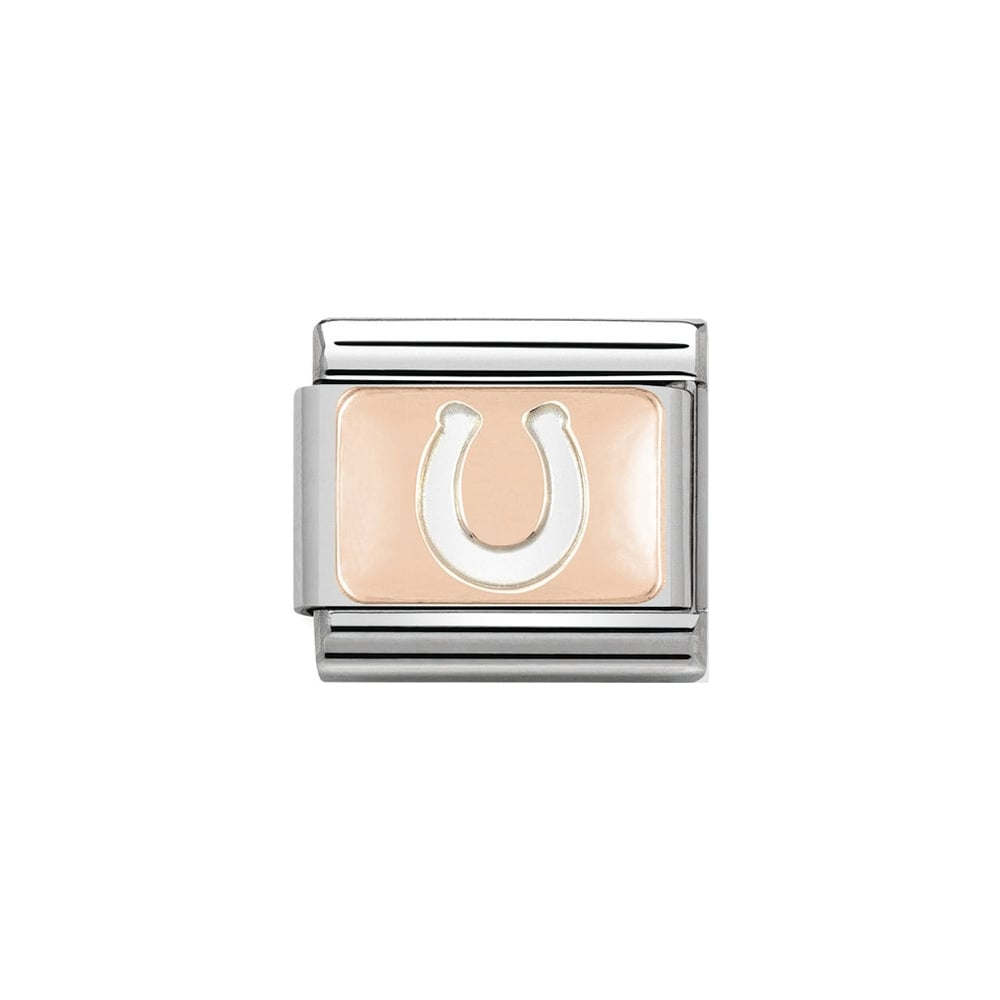Nomination Classic Rose Gold Horseshoe Plate Charm - S&S Argento
