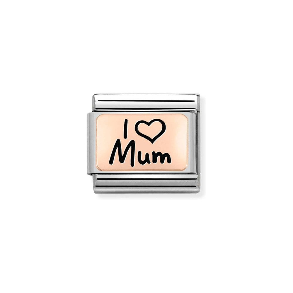 Nomination Classic Rose Gold I Love Mum Charm