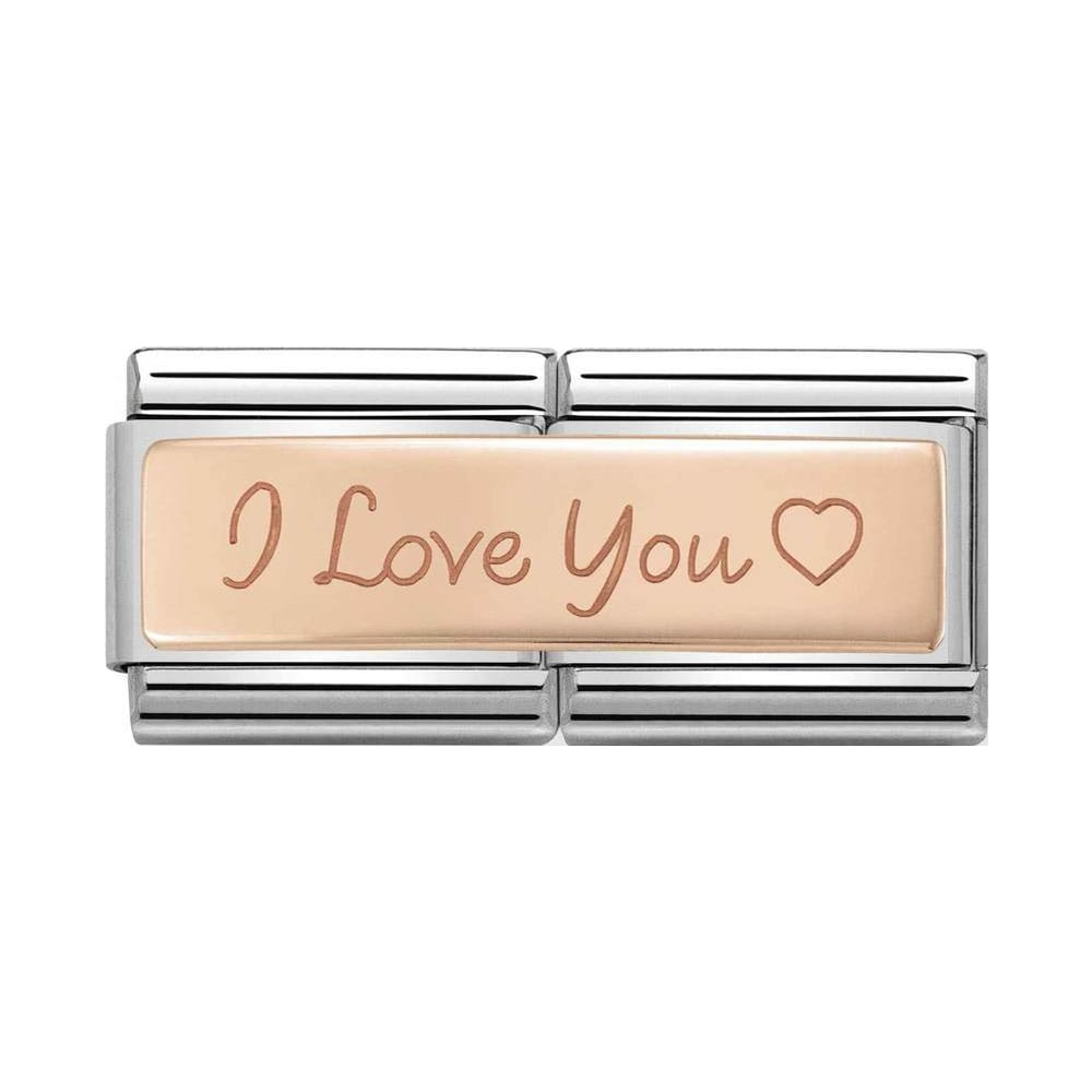 Nomination Classic Rose Gold I Love You Double Charm - S&S Argento