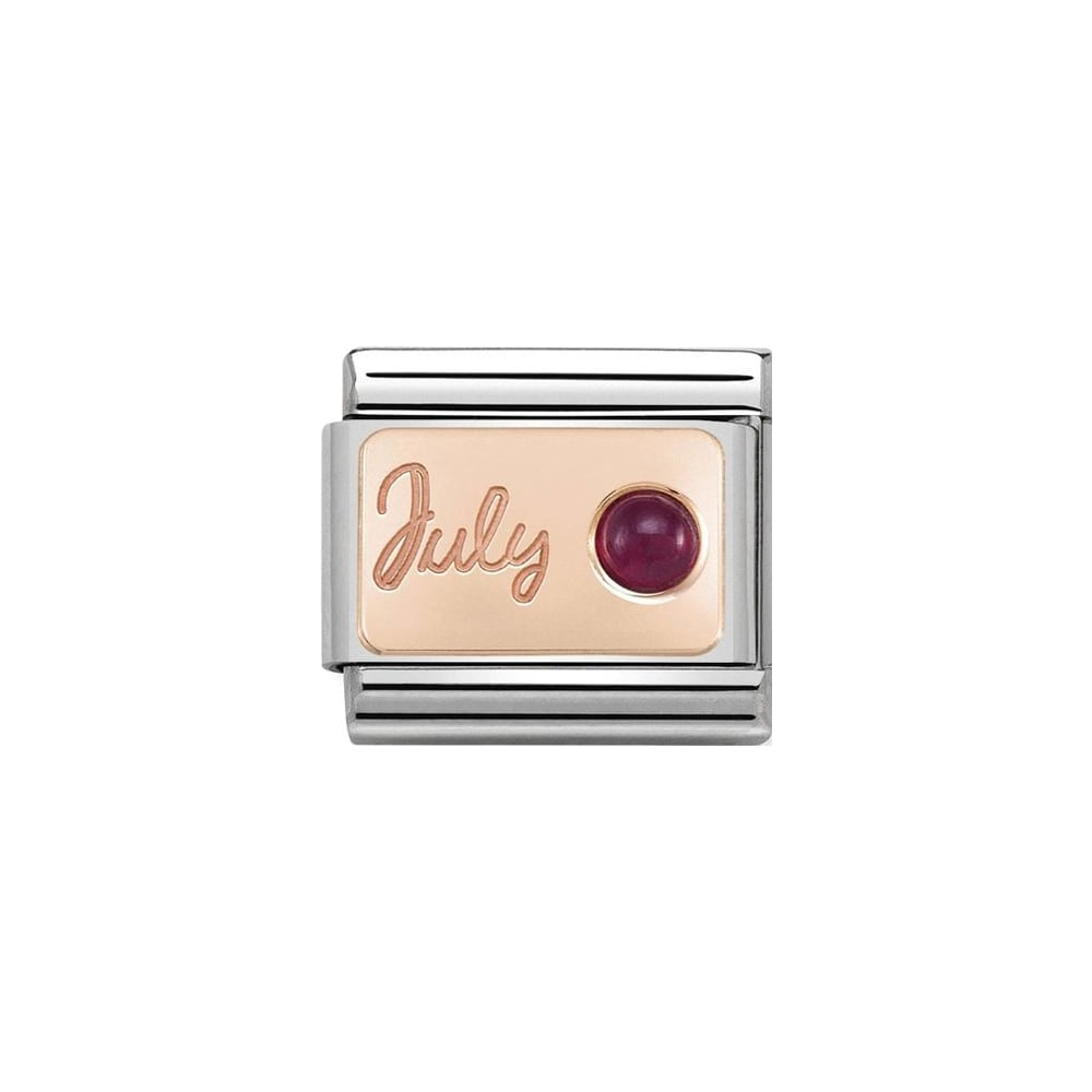 Nomination Classic Rose Gold July Ruby Charm - S&S Argento