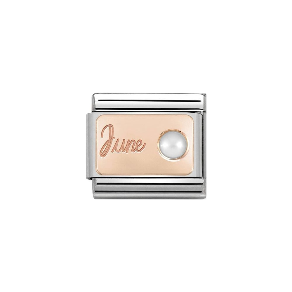 Nomination Classic Rose Gold June Pearl Charm - S&S Argento