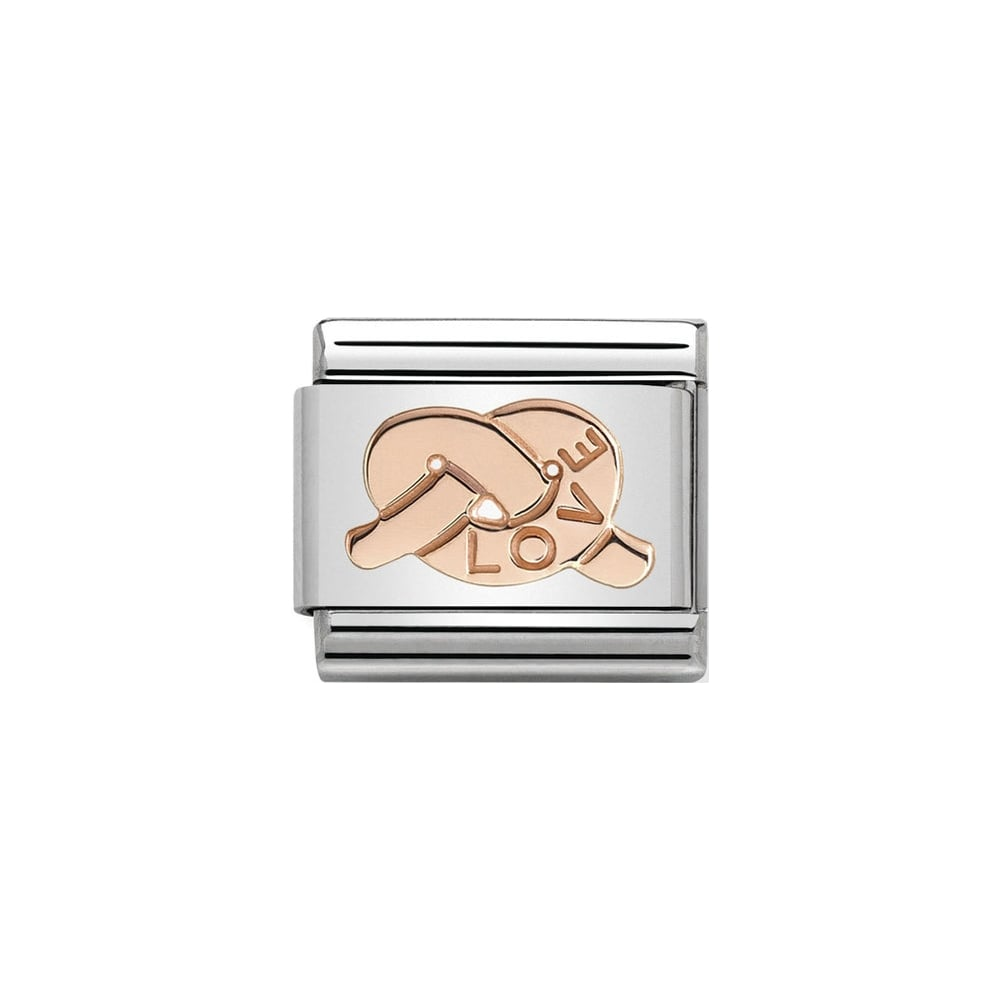 Nomination Classic Rose Gold Knot of Love Charm - S&S Argento