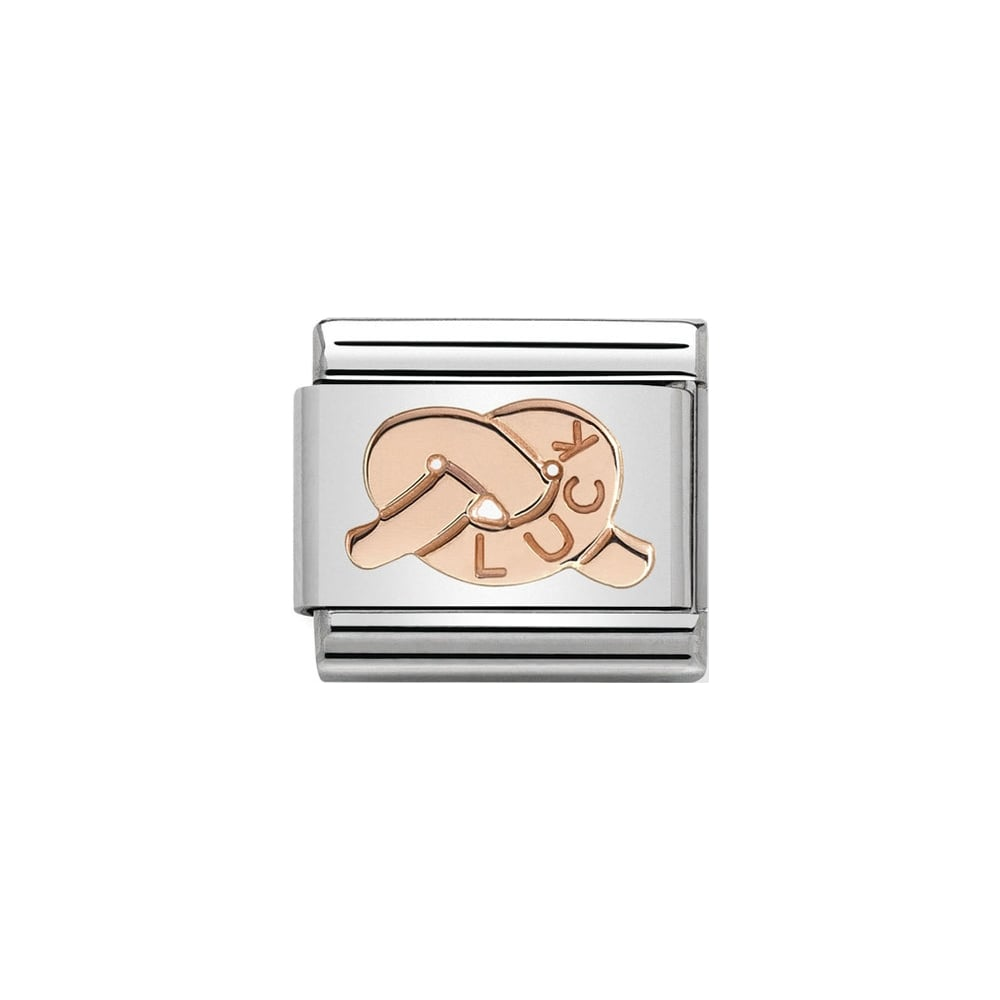 Nomination Classic Rose Gold Knot of Luck Charm - S&S Argento
