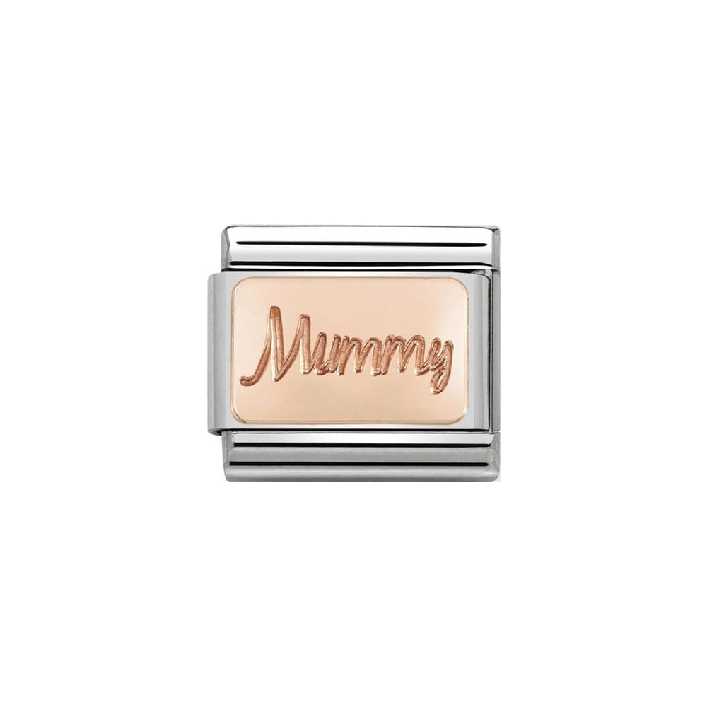 Nomination Classic Rose Gold Mummy Plate Charm - S&S Argento