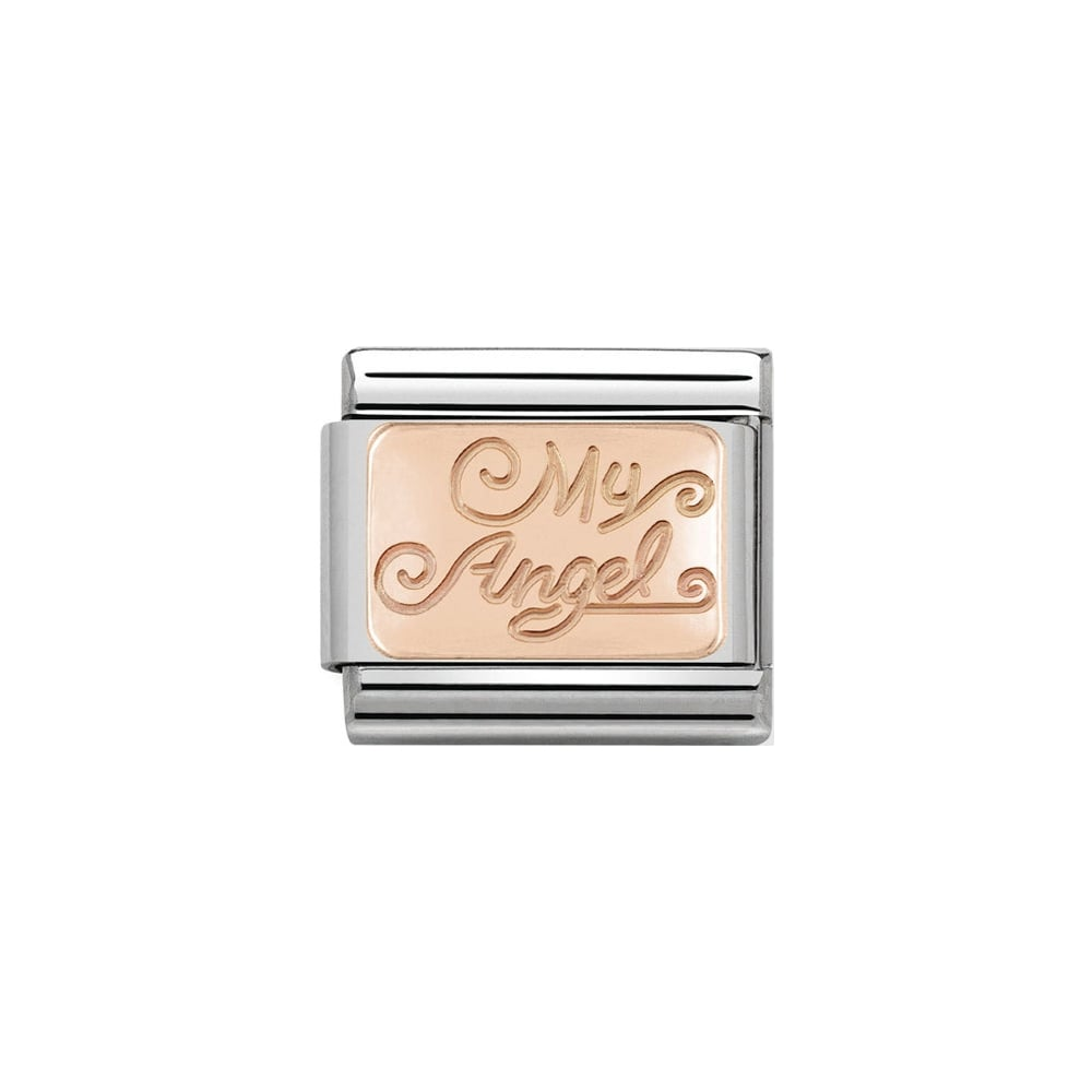 Nomination Classic Rose Gold My Angel Charm - S&S Argento