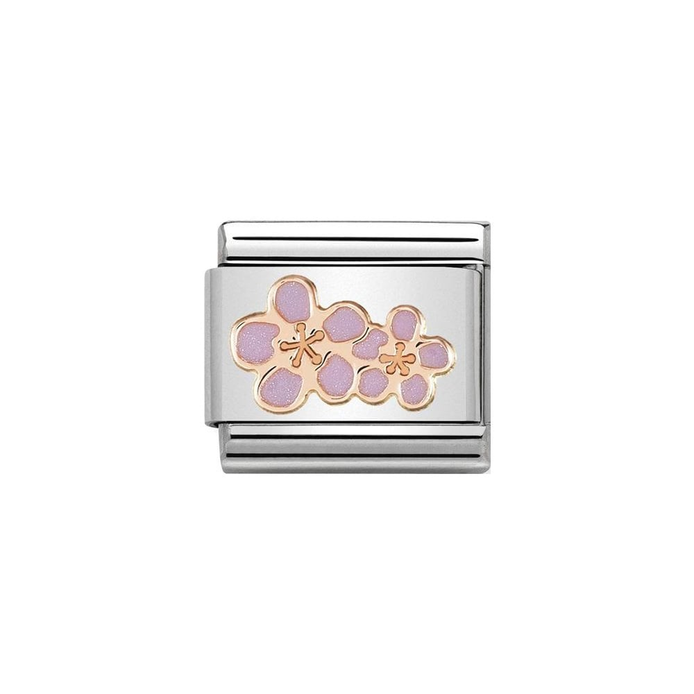 Nomination Classic Rose Gold & Peach Blossom Charm - S&S Argento