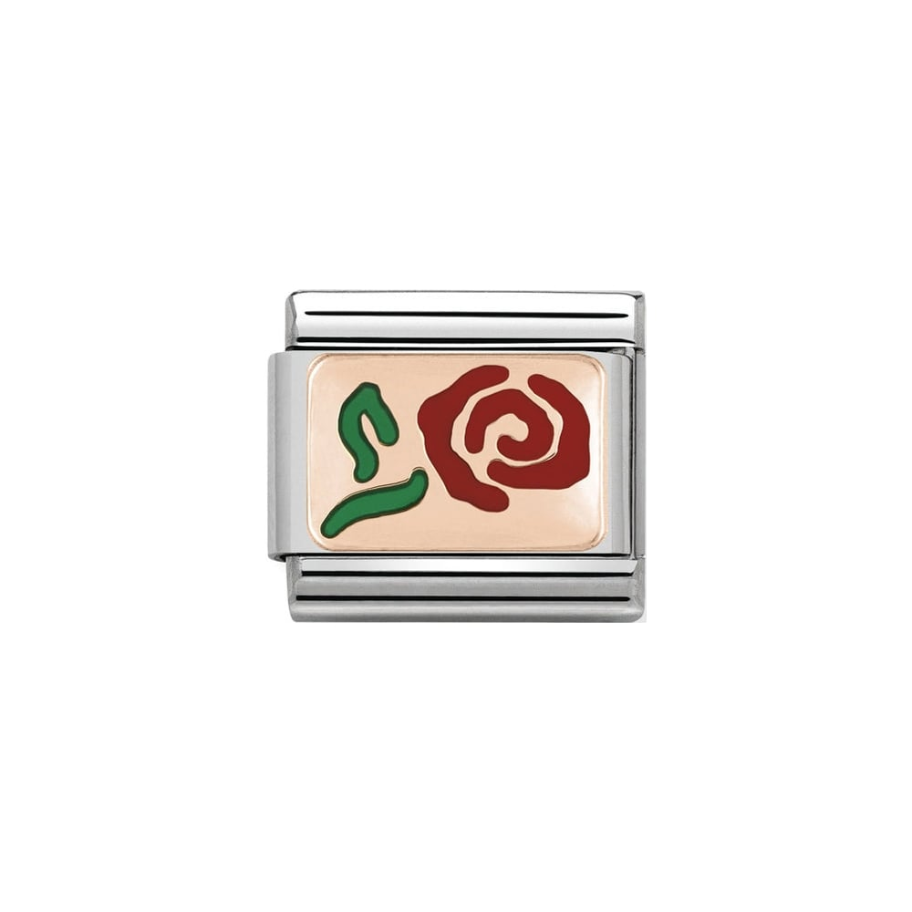 Nomination Classic Rose Gold Red Rose Charm - S&S Argento
